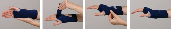 Wristh orthosis instructions